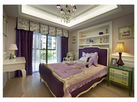 卧室窗帘乡村风格装饰效果图