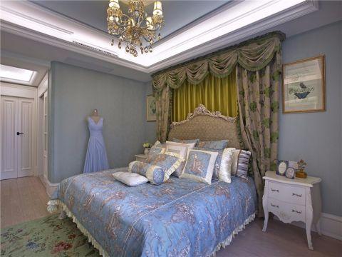 卧室床头柜乡村风格装潢效果图