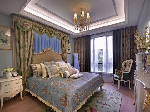 卧室窗帘乡村风格装修设计图片