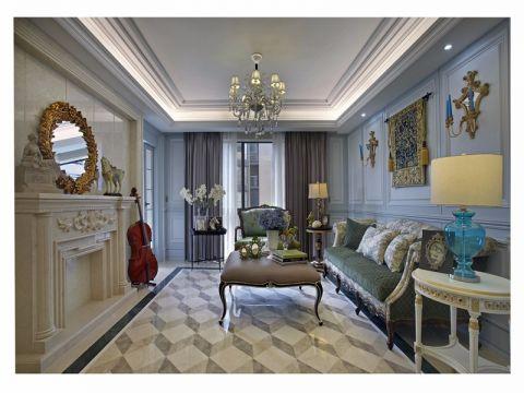 天山龙玺120平简欧风格二居室装修效果图