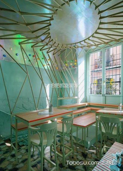 自然主题咖啡厅吊顶装修设计图片