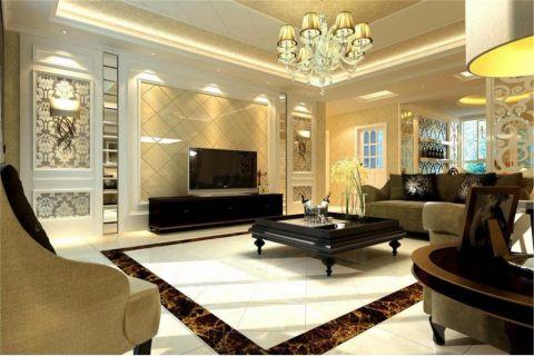 欧式风格220平米小户型房子装修效果图