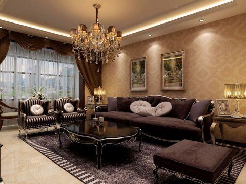 简欧风格160平米三居室房子装修效果图