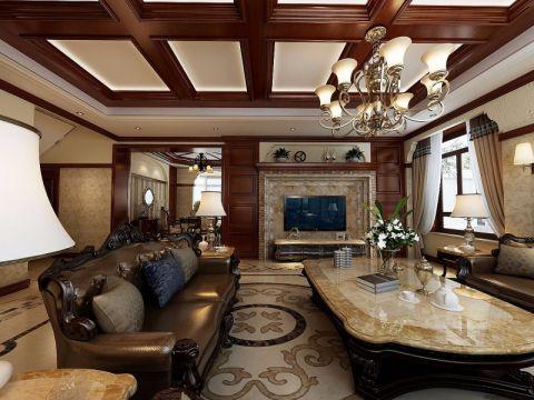 古典风格300平米别墅装修效果图