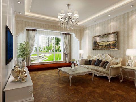 客厅飘窗简欧风格装饰图片
