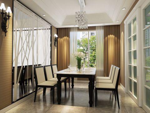 餐厅窗帘简约风格装饰图片