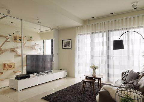 北欧风格90平米二居室房子装修效果图