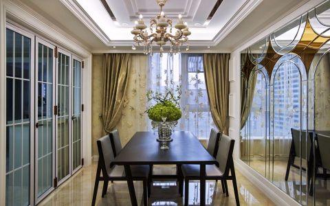 餐厅窗帘法式风格装饰图片