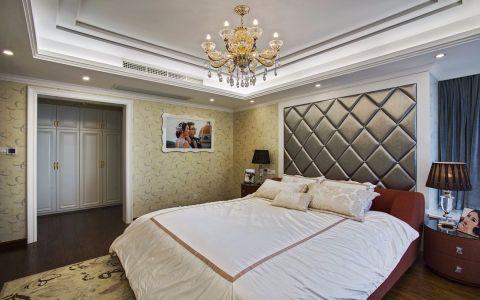 卧室背景墙法式风格装潢图片