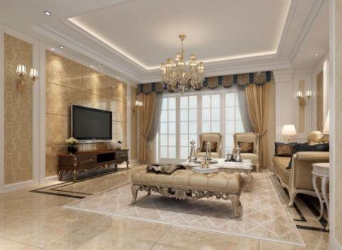 欧式风格160平米四居室房子装修效果图