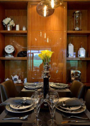 餐厅博古架现代简约风格装潢效果图