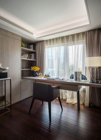 书房窗帘简约风格装饰设计图片