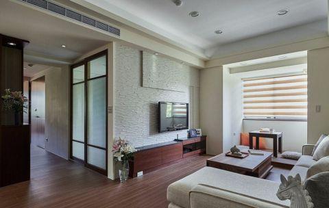 简约风格90平米三居室房子装修效果图