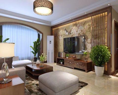 新中式风格160平米三居室房子装修效果图