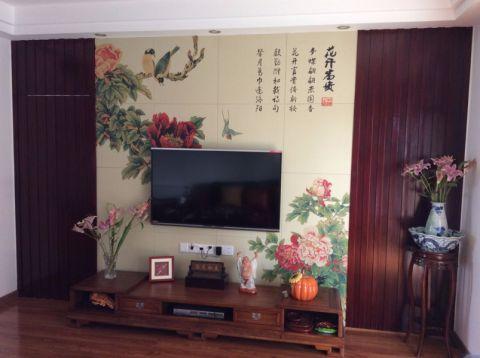 中式風格110平米二居室房子裝修效果圖