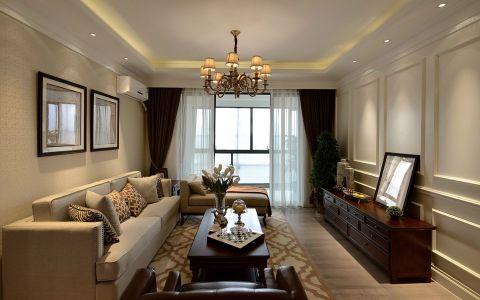 美式風格160平米三居室房子裝修效果圖