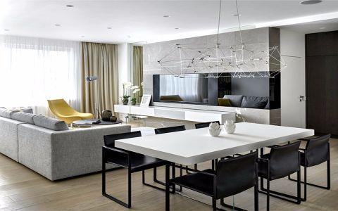 简约风格160平米四居室房子装修效果图