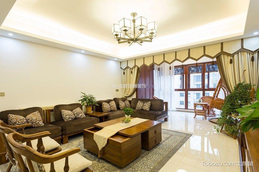 160㎡现代中式四居室装修实景图