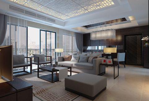 中式风格150平米大户型新房装修效果图