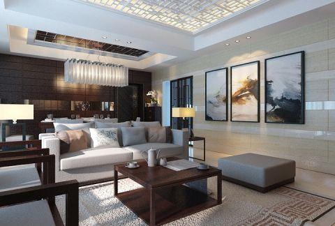 客厅茶几中式风格效果图