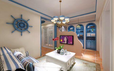地中海风格70平米一居室室内装修效果图