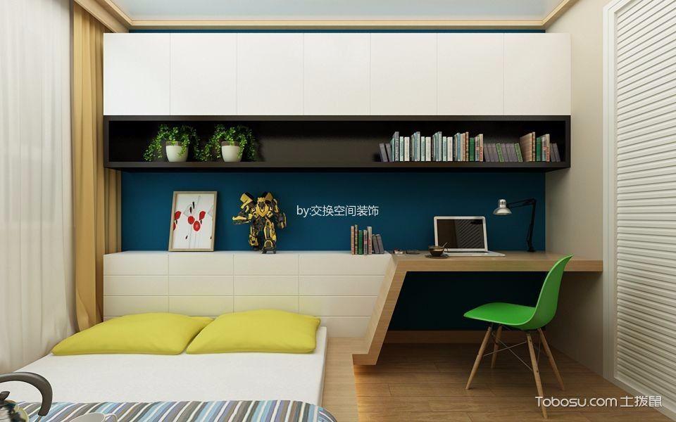 卧室黄色窗帘日式风格装饰设计图片