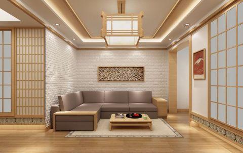 福成五期120平米日式简约三居室设计效果图