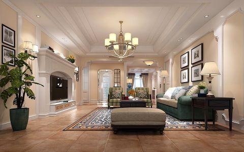 美式风格220平米大户型室内装修效果图