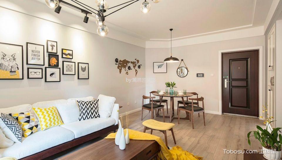 客厅白色吊顶现代简约风格效果图