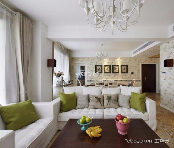 客厅 沙发_田园风格100平米公寓新房装修效果图