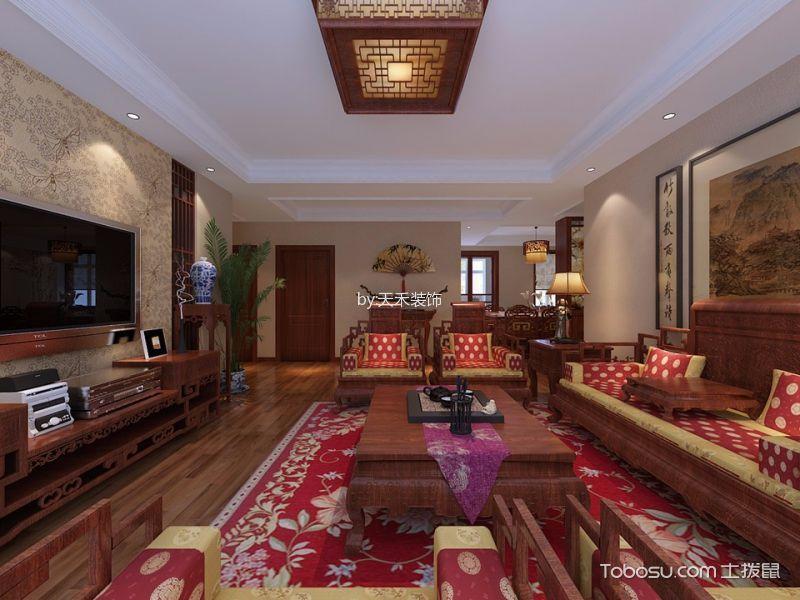 中大紫都三室中式风格装修效果图