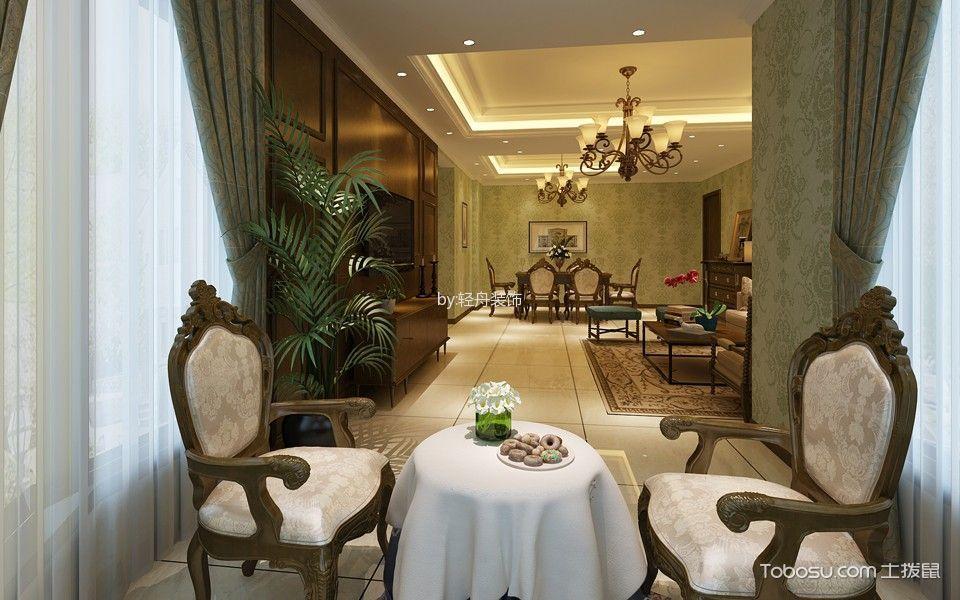 美式风格110平米两室两厅新房装修效果图