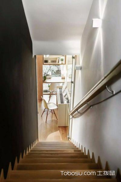 客厅黄色楼梯混搭风格装饰设计图片