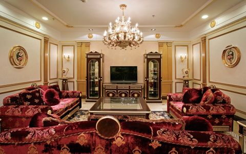 法式风格140平米四室两厅新房装修效果图