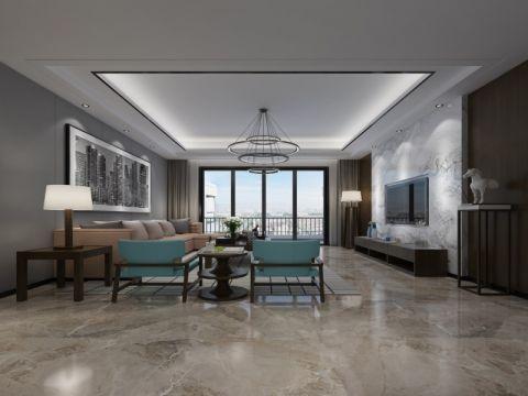 现代风格140平米大户型室内装修效果图