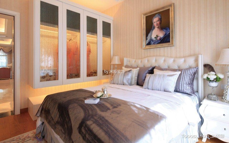 卧室白色床法式风格装修效果图