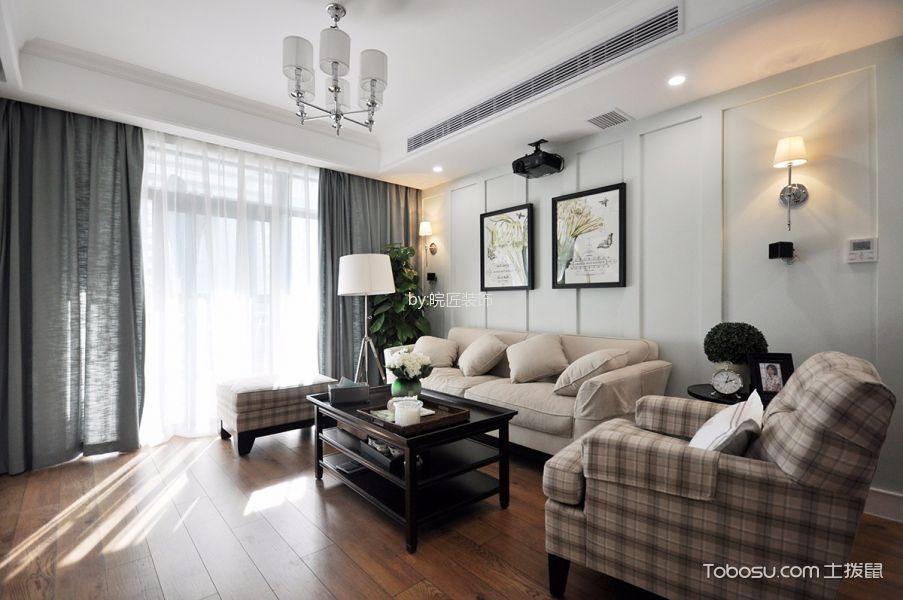 客厅黑色地板砖美式风格效果图
