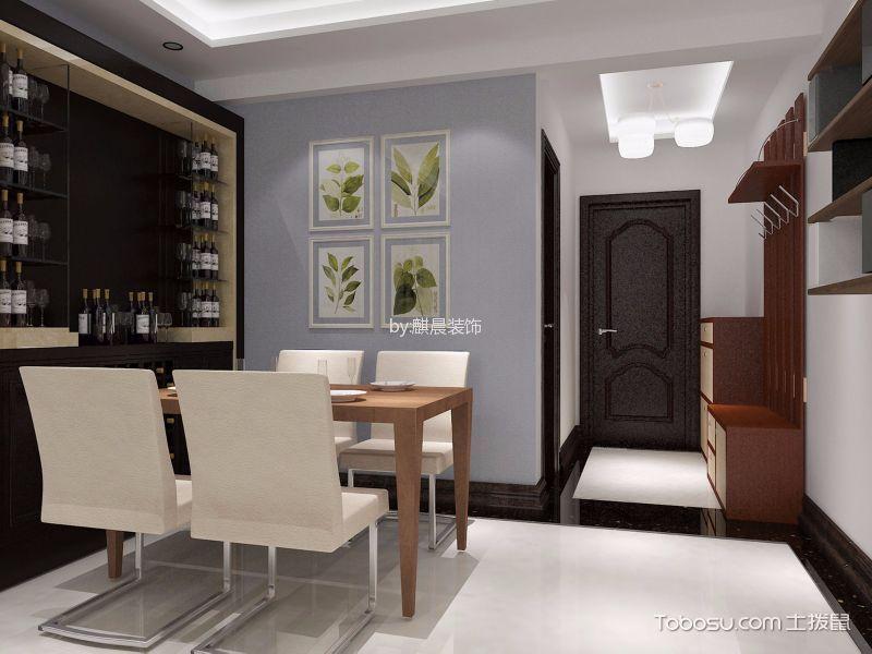 混搭风格90平米公寓新房装修效果图