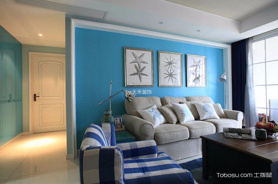 地中海风格100平米两室两厅新房装修效果图