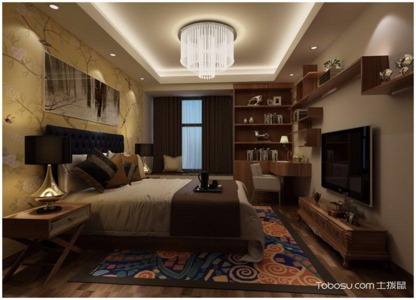 2020中式卧室装修设计图片 2020中式电视柜装修图片