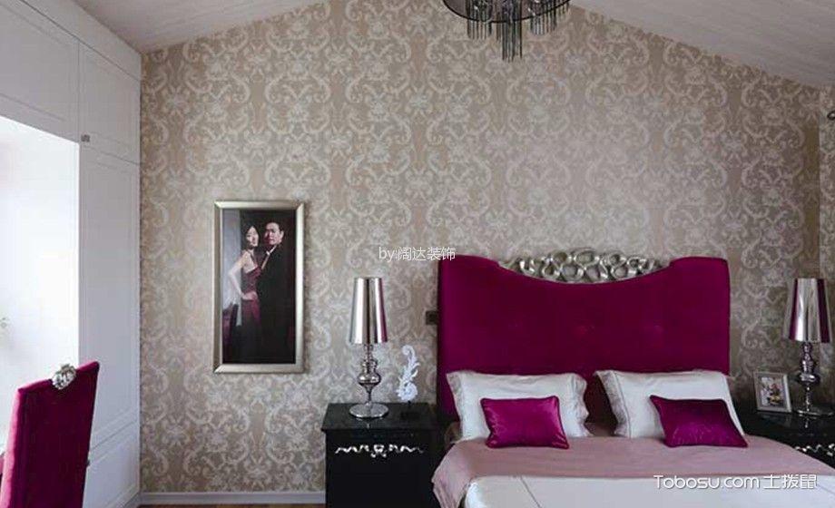 卧室咖啡色背景墙现代风格装潢图片