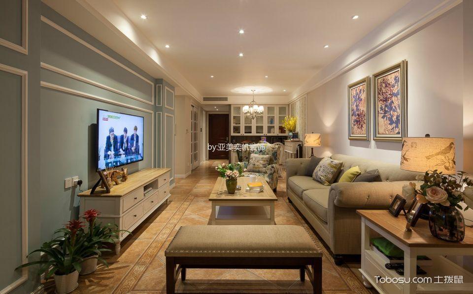 美式风格120平米公寓室内装修效果图