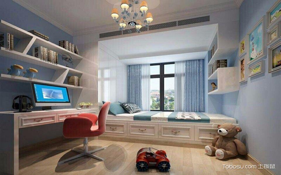 卧室白色榻榻米欧式风格装潢设计图片