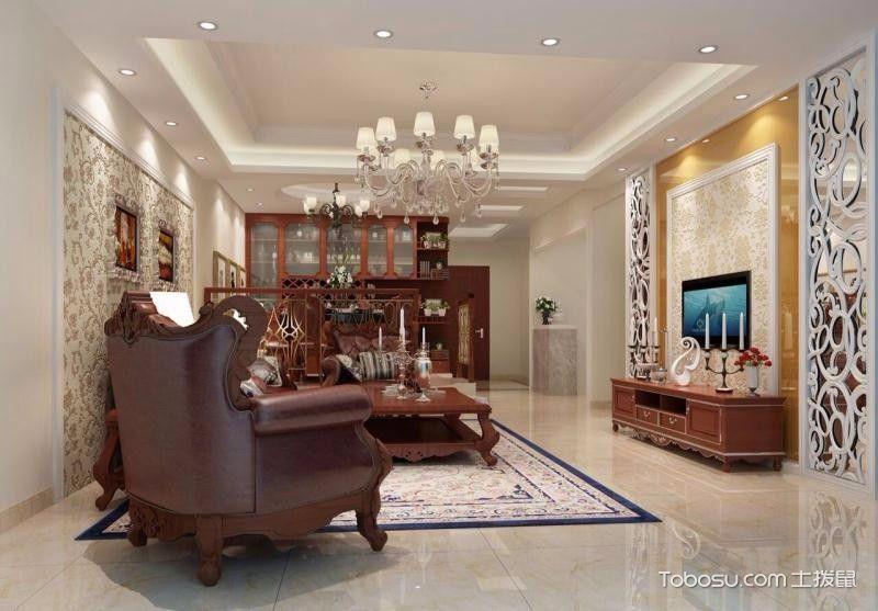 欧式风格130平米四室两厅新房装修效果图