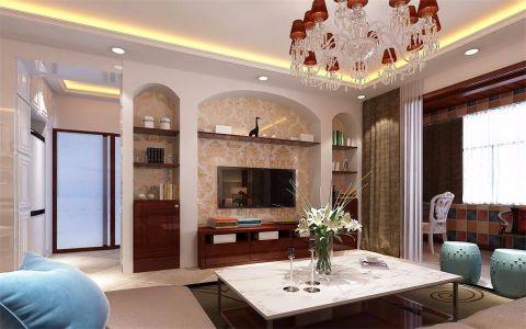 新中式风格100平米公寓室内装修效果图