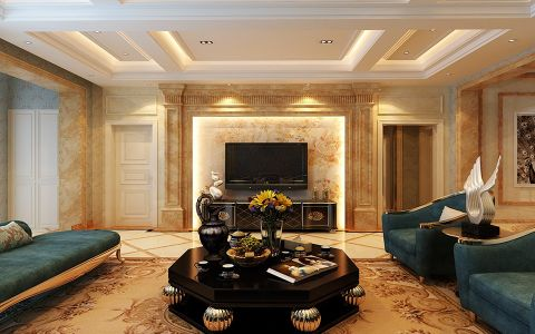 欧式风格183平米三室两厅新房装修效果图