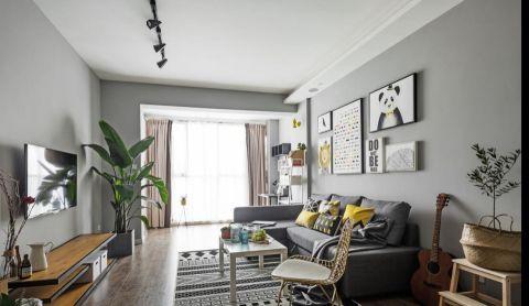 现代风格80平米公寓新房装修效果图