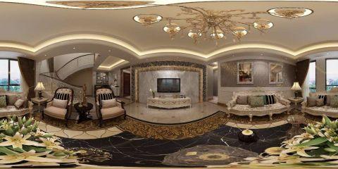 客厅电视柜新古典风格装潢效果图