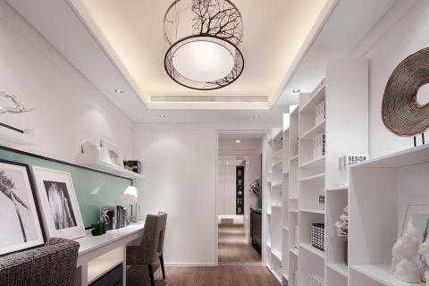 书房吊顶简约风格装潢设计图片
