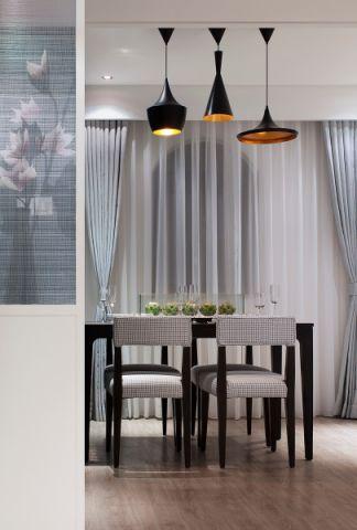餐厅窗帘简约风格装修效果图